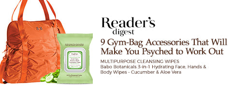 Reader's Digest 9 Gym Bag Accessories (wipes)