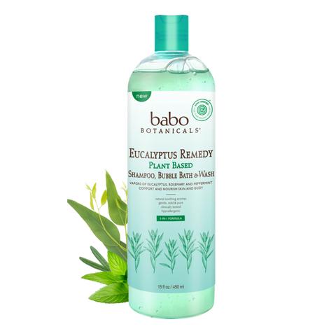 3 in 1 Eucalyptus Remedy™ Plant Based Shampoo, Bubble Bath and Wash