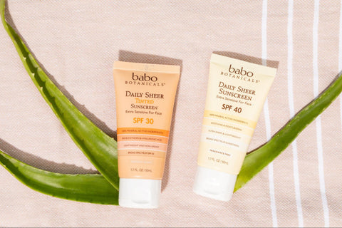 Daily sunscreen products from Babo Botanicals