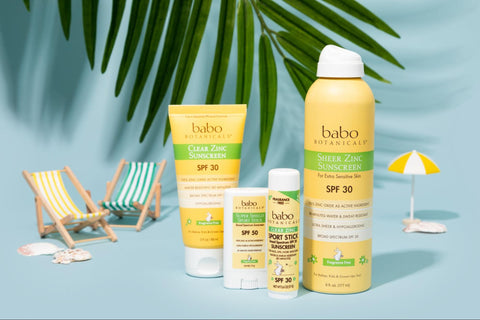 Babo Botanical Products set in a beach scene