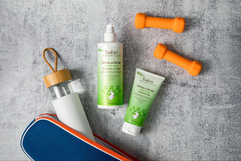 Travel shampoo and conditioner for the gym