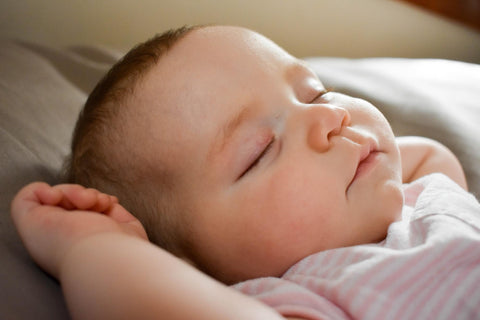 upclose of sleeping baby