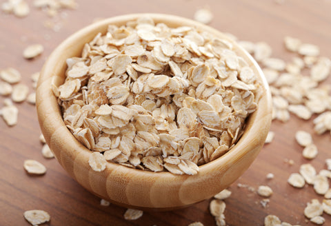 bowl of dry oatmeal for skin
