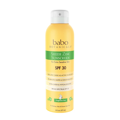 Babo Botanticals Sheer Zinc Continuous Spray Sunscreen SPF 30