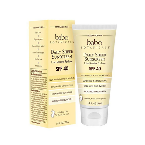 Babo Botanicals's Daily Sheer Facial Sunscreen For Sensitive Skin