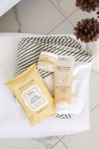 Babo Skin essentials that contain shea butter
