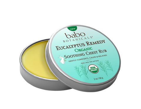 babo botanicals eucalyptus rememdy organic soothing chest rub