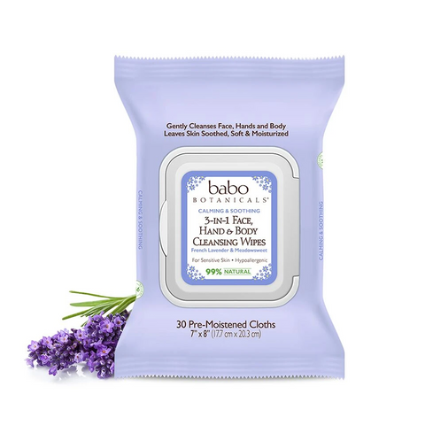 Babo Botanicals 5-in-1 face, hand & body cleansing wipes