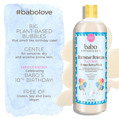 Limited Edition! 3 in 1 Birthday Bubbles Plant Based Bubble Bath and Wash