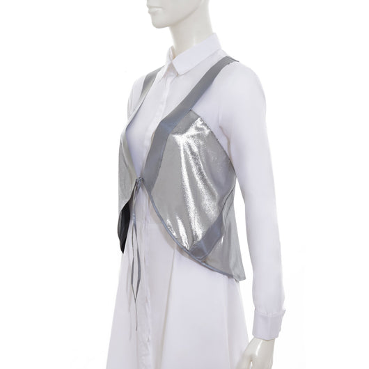 Vespert Fashion Pretty Chic Stylish Silver Reflective Safety Vest 3M Scotchlite Reflective Packable lightweight women