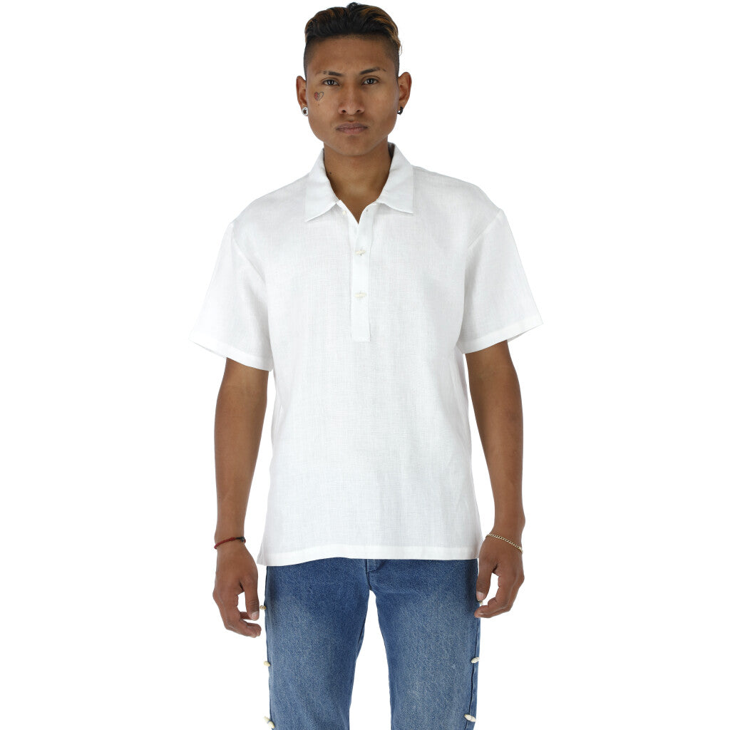 Compa: Linen Polo Shirt