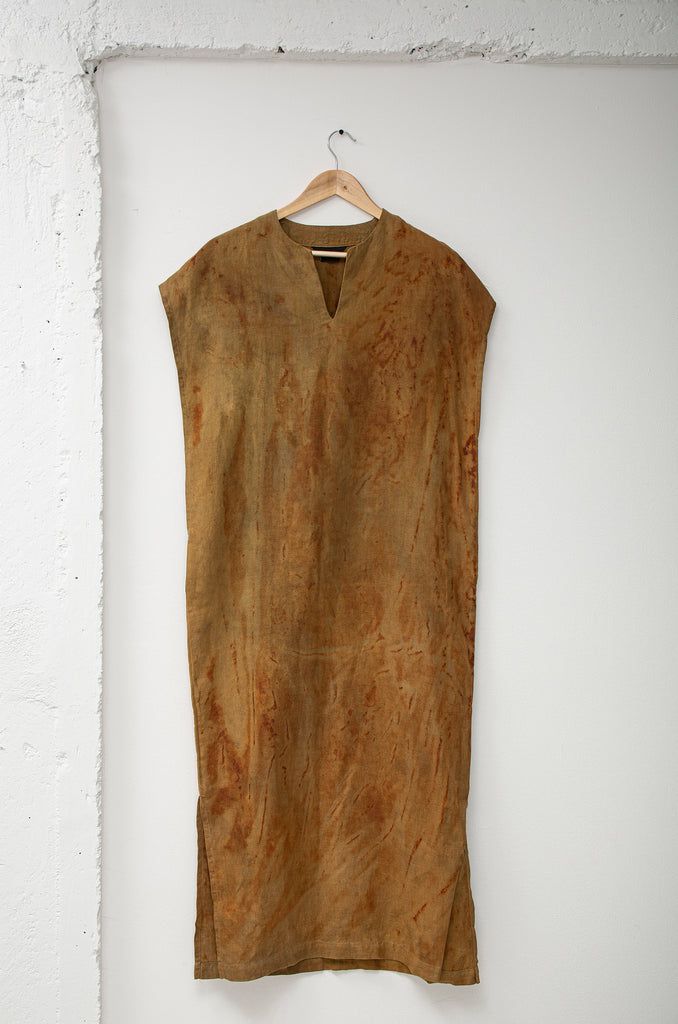 Machete: Oxide Dye Linen Long Tunic