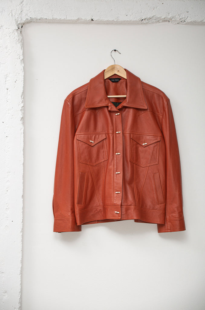 Mamey: Leather Trucker
