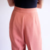 Vintage 90s High Waist Pleated Trousers in Coral - Sz 8