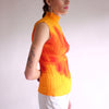 Vintage Issey Miyake Flower Graphic Print Micro Pleated Top