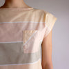 Vintage 70s Cotton Striped Crop Top