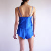 Vintage 90s Silky Co-Ord 2PC Set in Sapphire - S