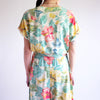 Vintage 90s High Waist 100% Cotton Tropical Jumpsuit - M