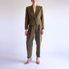 Vintage 90s High Waisted Cropped Pantsuit in Basque - S