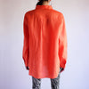 Minimal Oversized 100% Linen Oxford in Persimmon - 1X