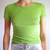 Vintage 90s Fitted Short Sleeve Top in Kiwi - S/M