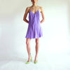 Vintage 100% Silk Slip Dress in Lilac - L