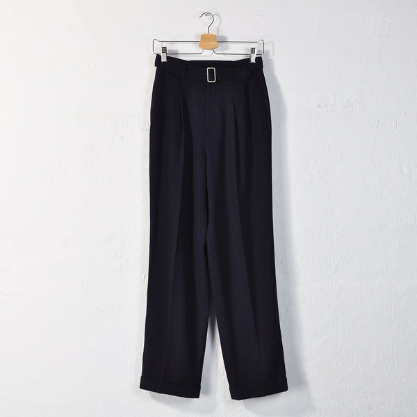 Vintage 90s Ralph Lauren High Waist Pleated Wool Trousers - Sz 6 / W27