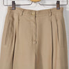 Vintage 1990s Tapered Silky Trousers in Taupe - Size 4 / 24 Waist