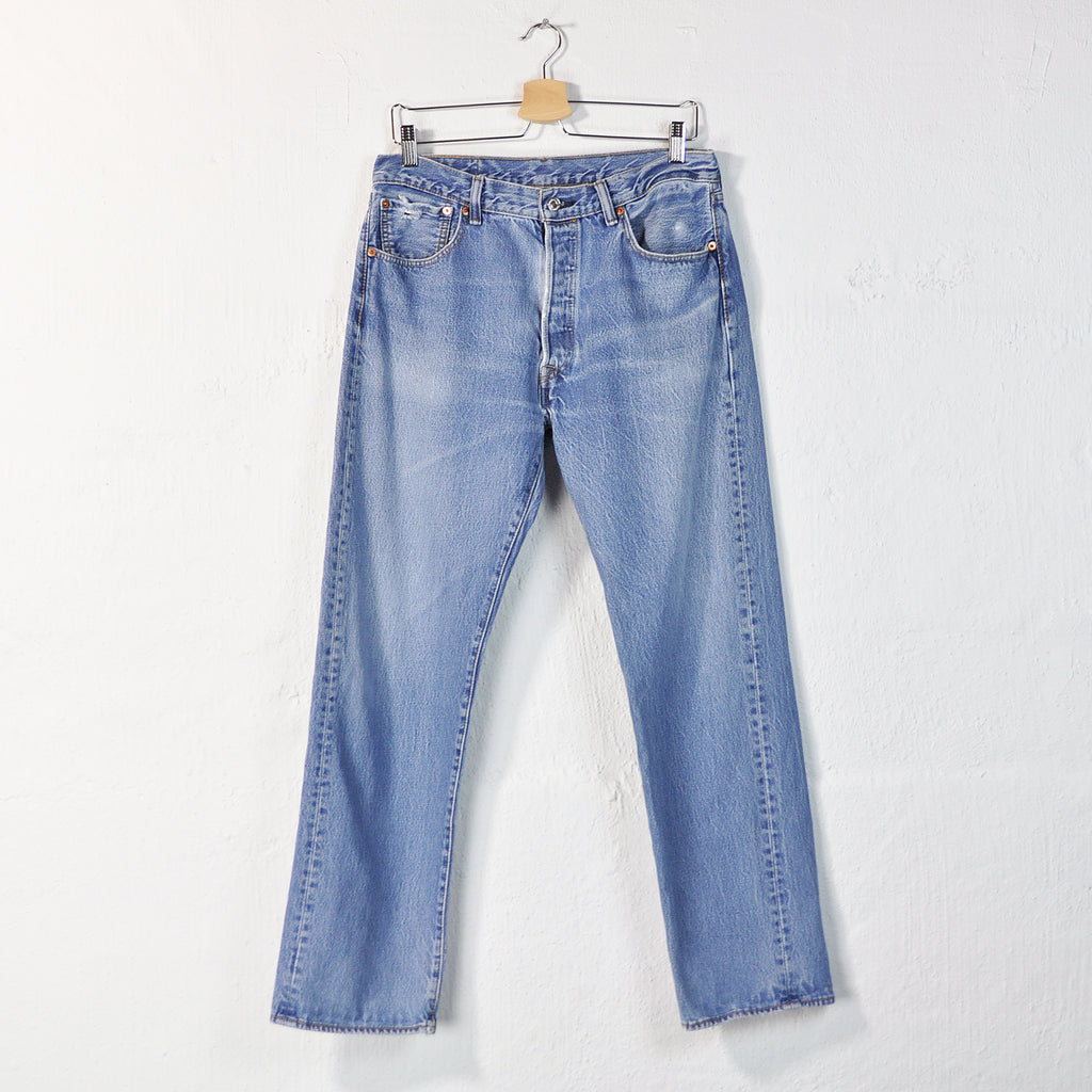 dd39f702430 Vintage 90s Levi's 501 Distressed Jeans - W33 – Downhouse