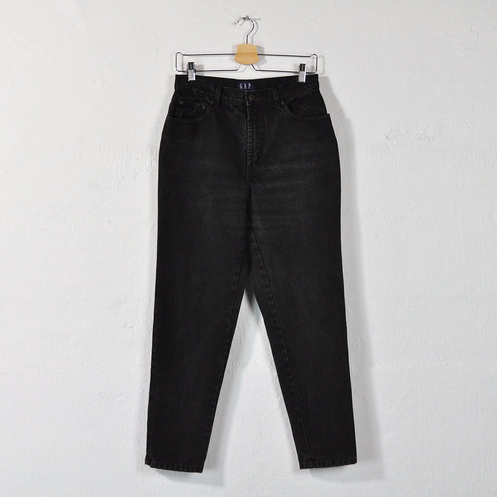 Vintage 90s GAP High Rise Mom Jeans in Black - Size 10 / W29