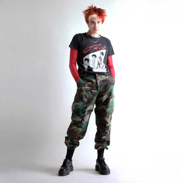 Vintage Camouflage Military Parachute Pants - W27 - W31