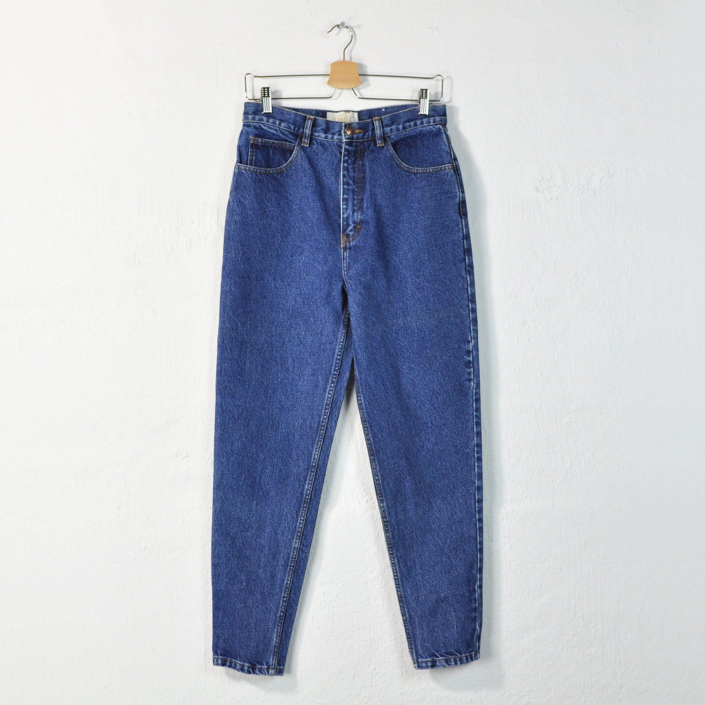 Vintage 90s High Rise Ankle Zipper Mom Jeans - Size 10 / W29