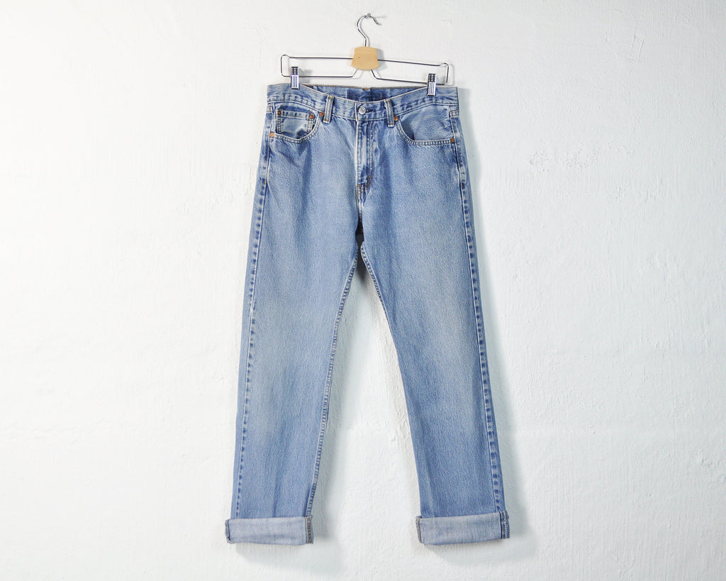 Vintage Levi's 505 Distressed Mid Rise Straight Leg Jeans - W32