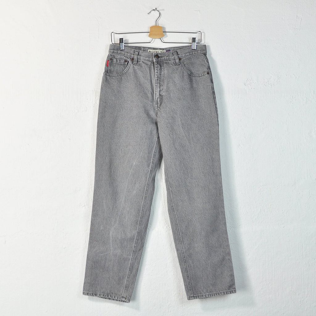 Vintage 90s Bugle Boy High Waisted Gray Jeans - W32