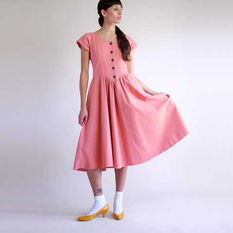 Vintage Denim A-Line Market Dress in Cherry Blossom - Sz 2