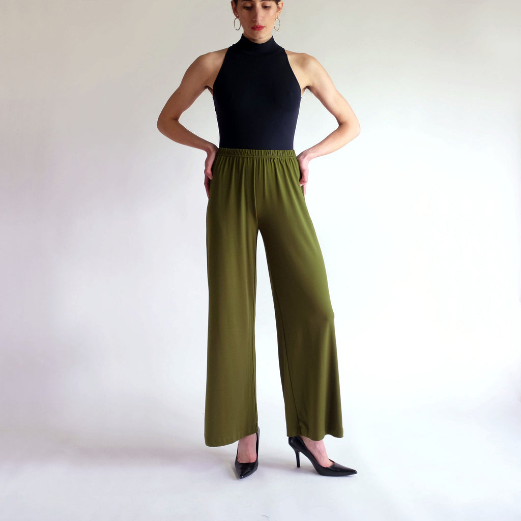 Vintage Bob Mackie Stretch Leisure Pant in Olive - XS/SM