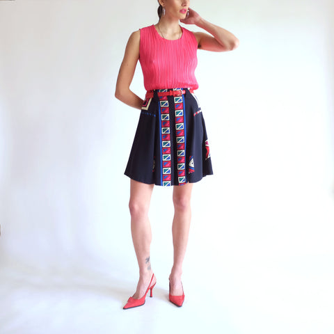 Vintage 90s High Rise Culotte Shorts - S