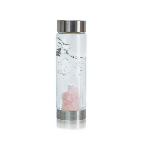 'Cupid's Kiss' Gemstone Glass Water Bottle