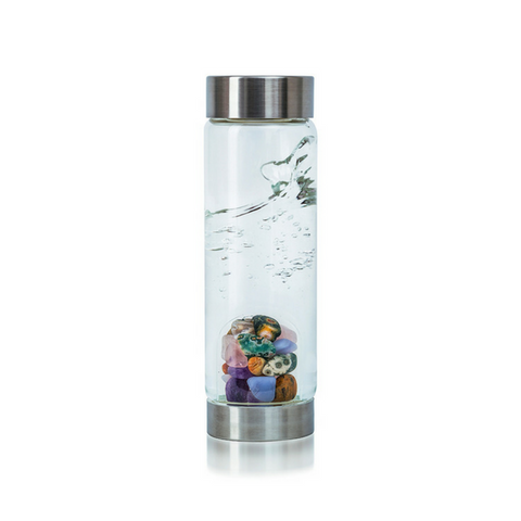 'Five Elements' Gemstone Glass Water Bottle