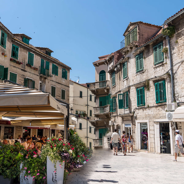 Visit the old town in Split in the Diocletian Palace