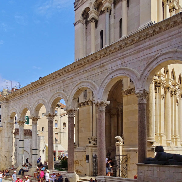 Visit the Cathedral of St. Domnius situated inside the Diocletian Palace in Split Croatia