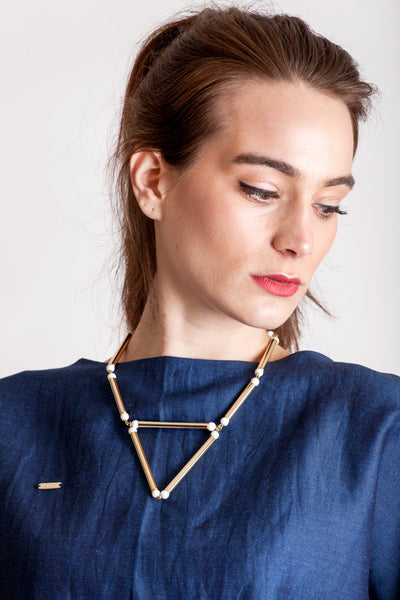 The aztec necklace by Little Wonder online on Krug Store