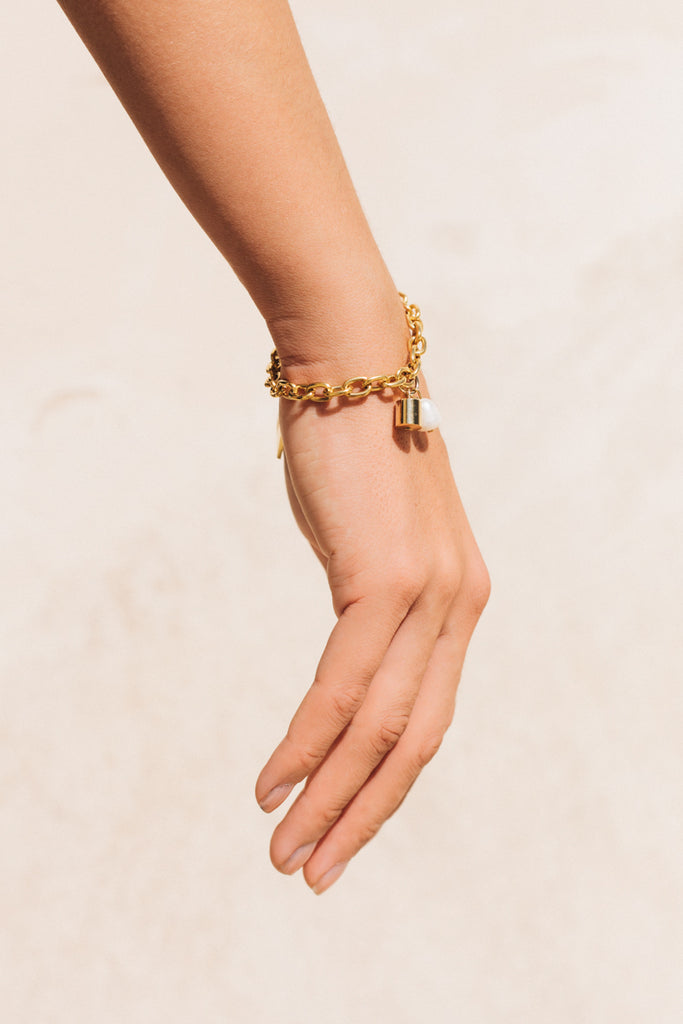 Bullet Bracelet Gold by the sustainable designer brand Little Wonder