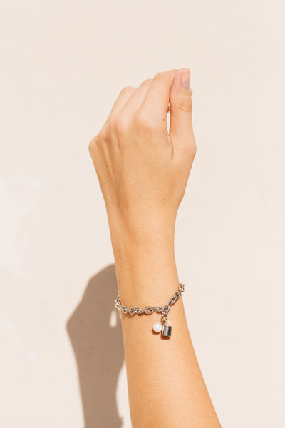 Bullet Bracelet Silver by the sustainable designer brand Little Wonder