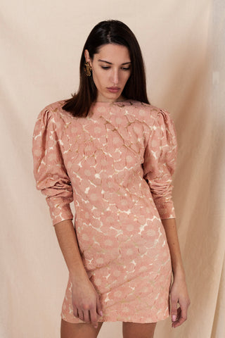 Peony Brocade Dress