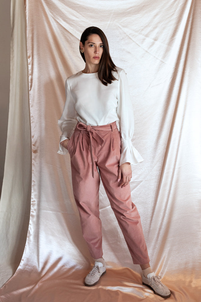 High-Rise Dusty Pink Pants