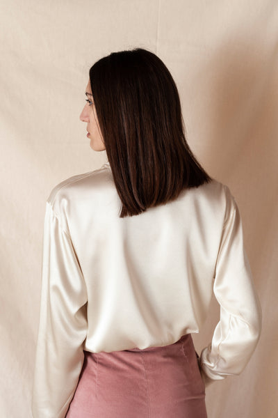 Silk Blouse Sweatshirt