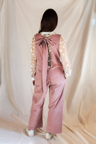 Open Back Jumpsuit Dusty Pink