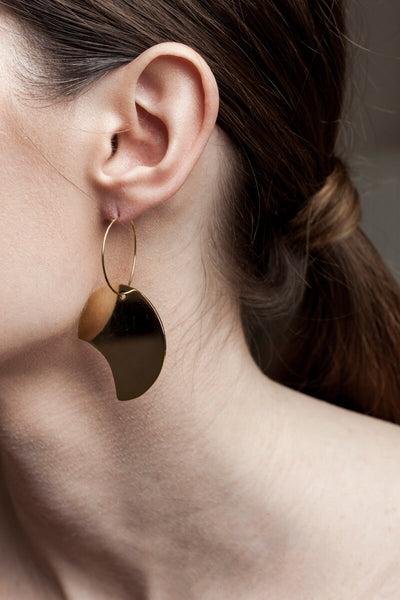 Earrings made of 24K gold plated brass.
