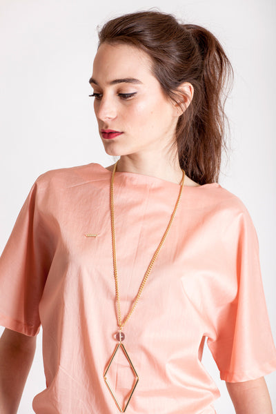 The Norma necklace big with quartz / gold by Little Wonder